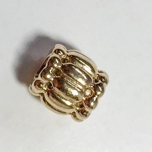 Pandora Retired Barrel 14K Charm 750242